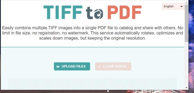 The TIFF to PDF utility combine tiff files