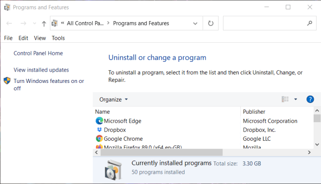 Programs and Features minecraft forge not installing windows 10