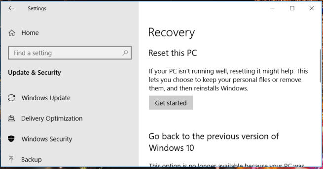 The Recovery tab minecraft forge not installing windows 10
