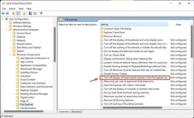 file explorer history step 3