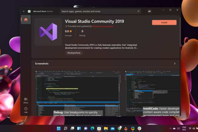 Windows 11 Store Visual Studio