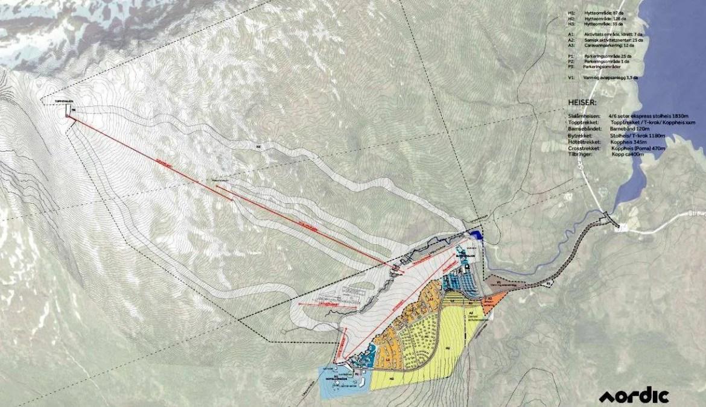 Een overzichtskaartje van het Arctic Center project (FB Arctic Center)
