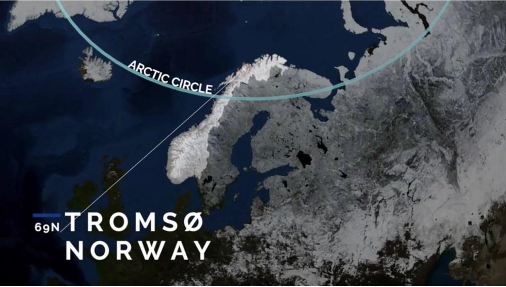 Tromsø ligt in het hoge noorden aan zee (bron: FB Arctic Center)