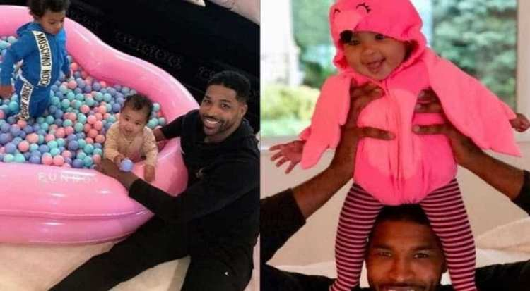 Tristan Thompson's day out with daughter True ...