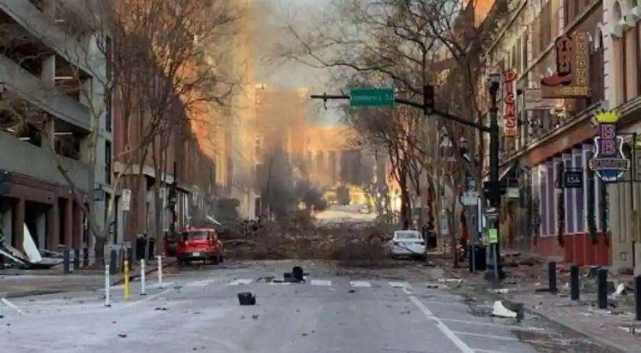 Christmas morning explosion rocks downtown Nashville