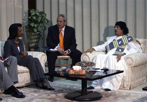 Condoleezza Rice and Gadaffi