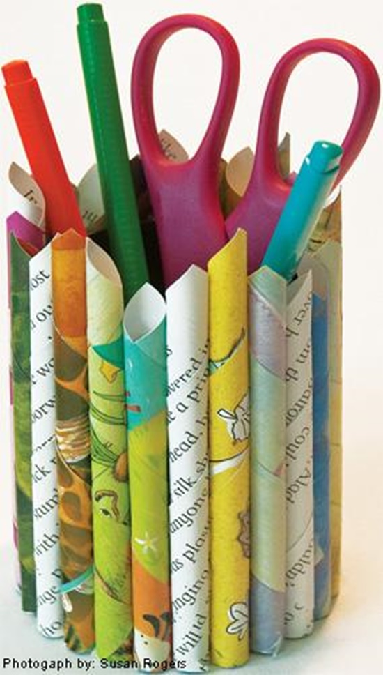 Wonderful Diy Multil Purpose Holders From Recycled Paper