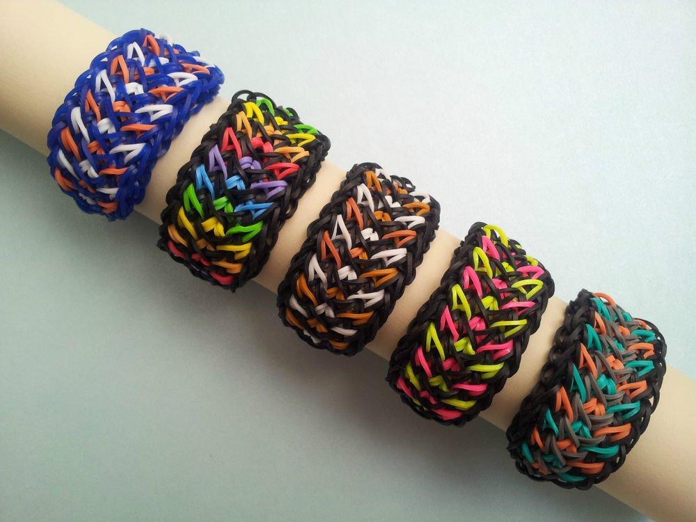 Crazy Tire Track Rainbow Loom Bracelets