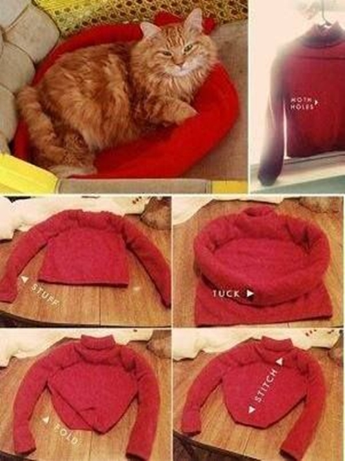 old shirt cat bed Wonderful DIY  Cat Tent/Bed From Old Shirt