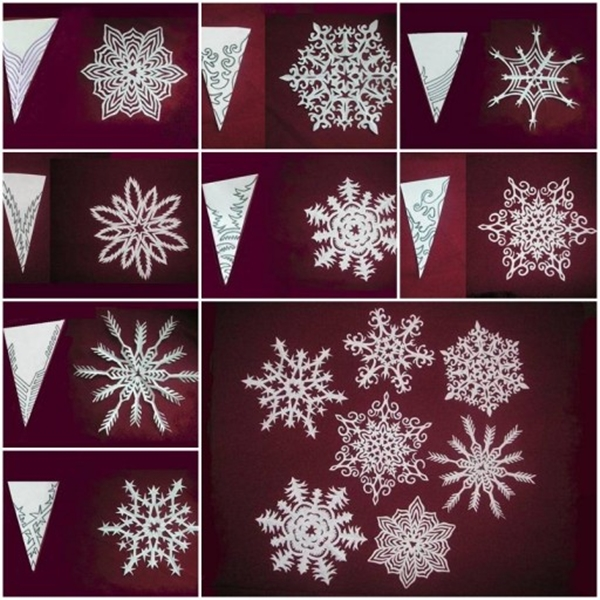 paper snowflakes pattern F