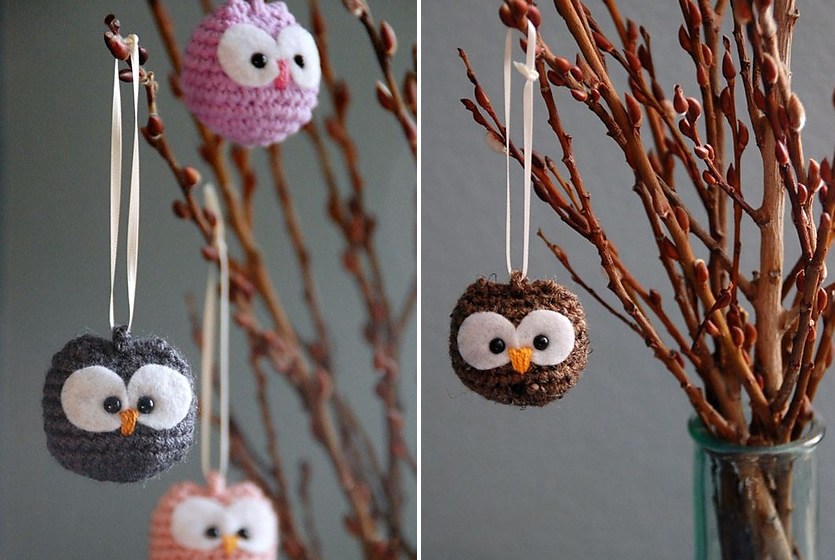 Hanging crochet Baby Owl Ornaments Crochet Baby Owls That Look Adorable as Ornaments