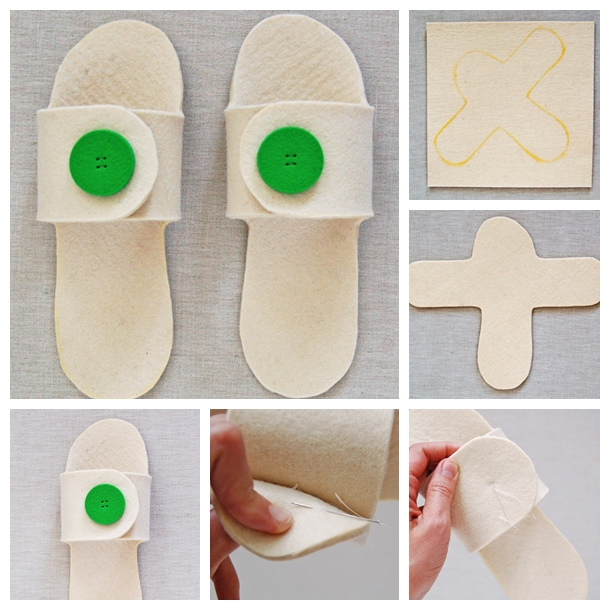creative felt slippers F