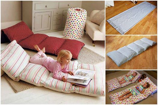 View In Gallery Easy Roll Up Pillow Bed Wonderful Diy Mattress For Kids