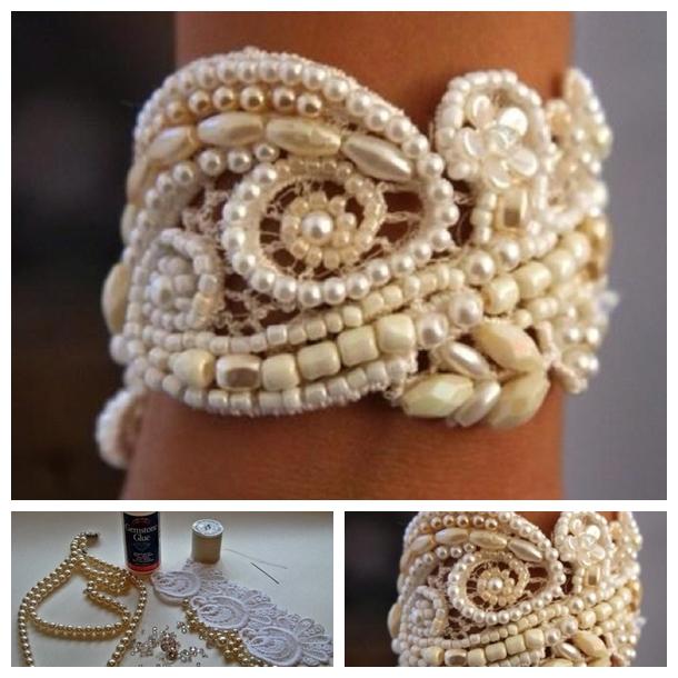 Wonderful DIY Pretty Pearl Lace Bracelet