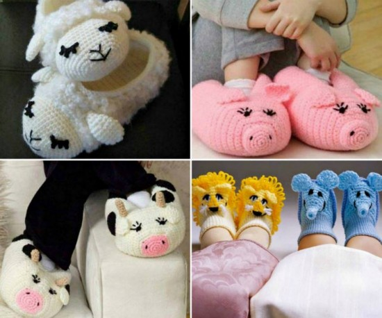 Animal Slippers Free Patterns1 wonderfuldiyf Wonderful DIY Cute Knitted / Crochet Baby Animal Booties