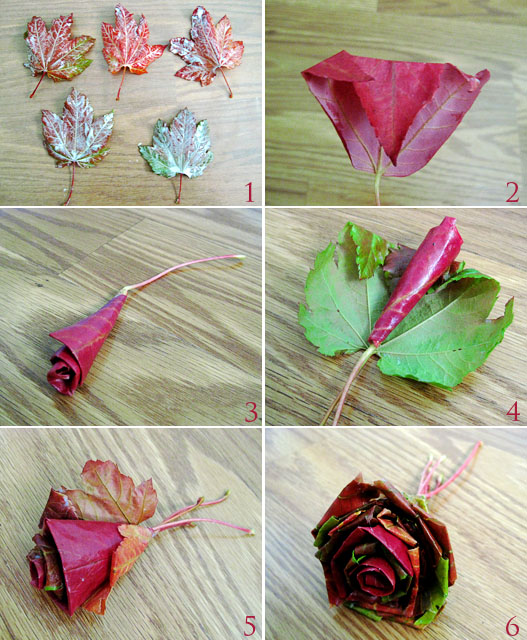 fall leaf FLOWER   Wonderful DIY Beautiful Maple Leaf Rose