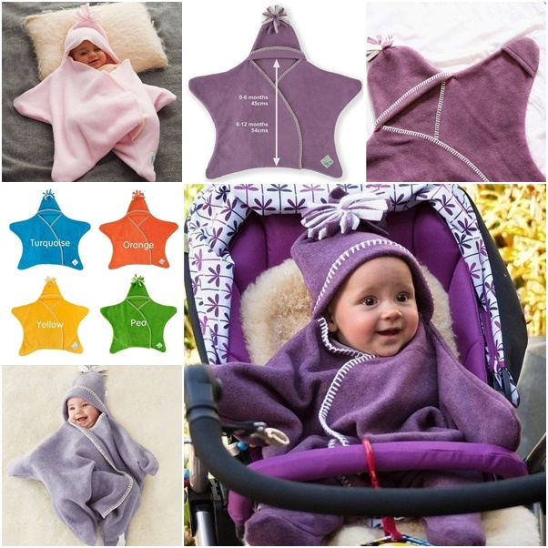 idea for Star Baby Wrap Blanket Make Your Own Shining Star Fleece Baby Wrap