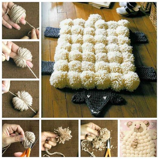 Make pompoms with your own fingers