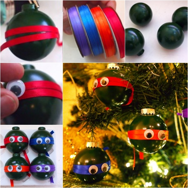 Ninja Turtle Christmas Ornaments DIY F Wonderful DIY Cute Light Bulb Penguin Ornaments
