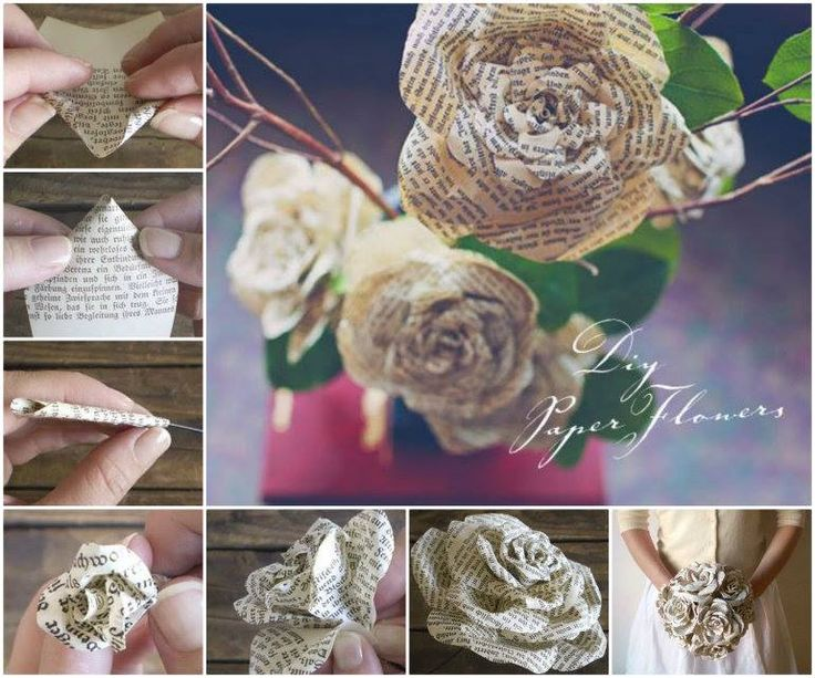 Paper Roses from Storybook Pages