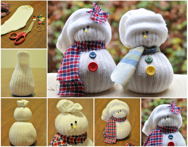 Sock Snowmen Wonderdrl DIY Adorable Mitten Snowman