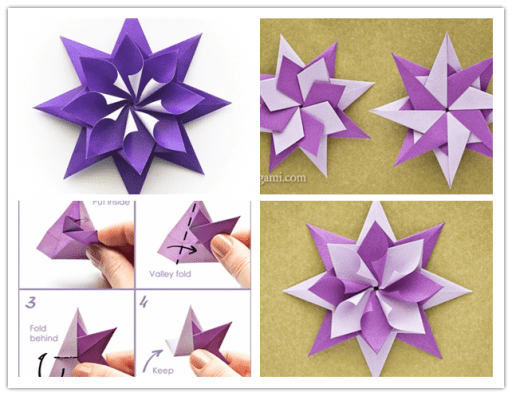 folded Origami Star DIY F Wonderful DIY Gold Star Ornaments From Drinking Straw