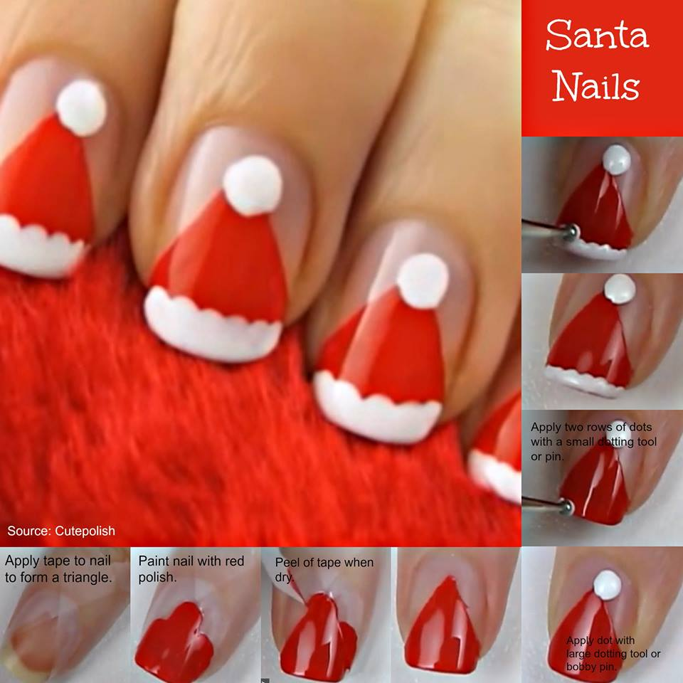 View In Gallery Christmas Nail Art 26
