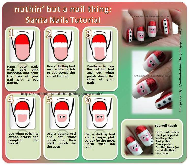 Christmas Nail Art Santa Nails 36 Wonderful Designs