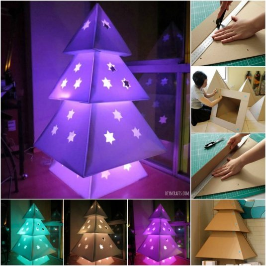 DIY Cardboard Christmas Tree 1 Wonderful DIY Cardboard Christmas Tree