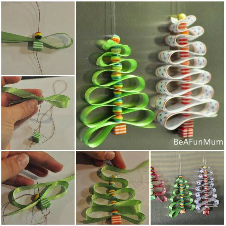 Ribbon beads Christmas Tree Decorations DIY f Wonderful DIY Zipper Christmas Tree Ornaments