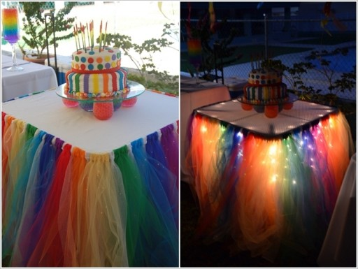 Wonderful Diy Fairy Light Tutu Table Skirt