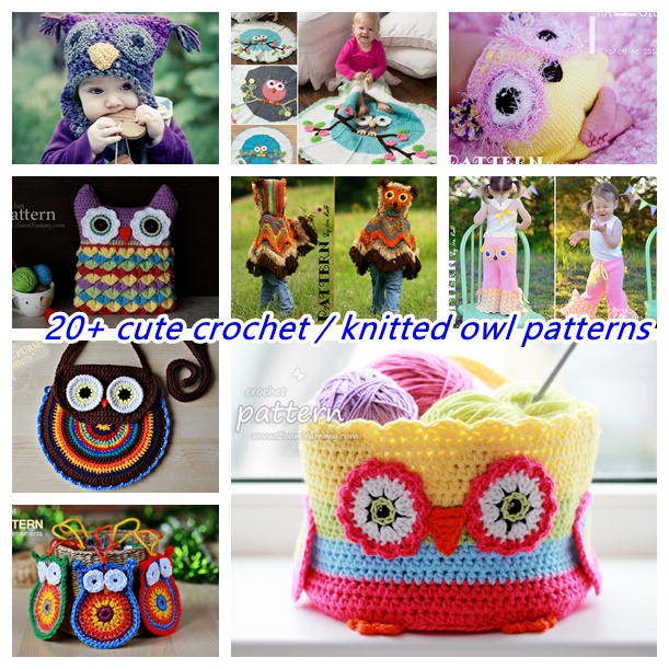 20+ cute crochet knitted owl patterns- wonderfuldiy