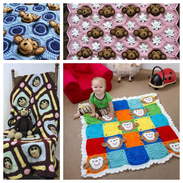 crochet monkey blanket pattern wonderfuldiy f2 Wonderful DIY Cute Crochet  Sock Monkey Blanket With Free Pattern