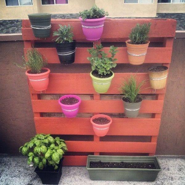 pallet planter vertical garden Wonderful DIY Vertical Pallet Garden
