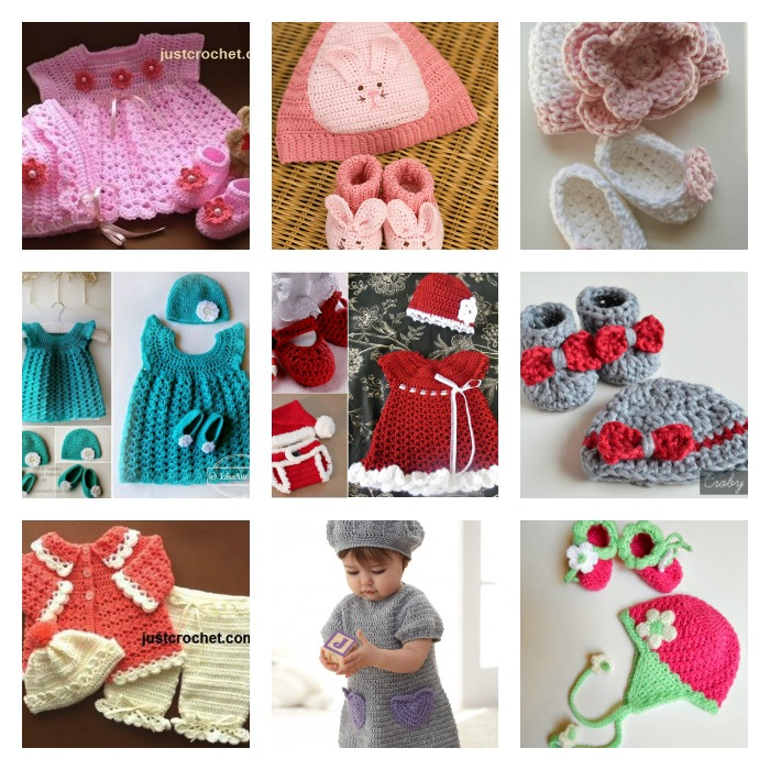 10 free crochet baby gift set patterns-wonderfuldiy fb