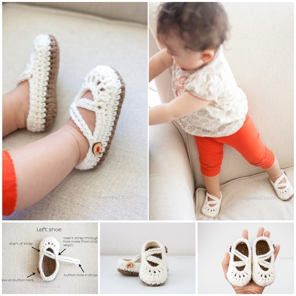 double stapped baby_mary_janes slippers crochet_pattern