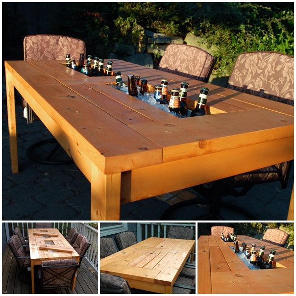 wonderful diy patio table with built in