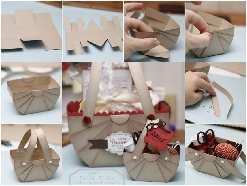 Wonderful DIY Cute Paper Basket Storage Gift Box