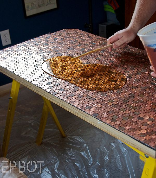 Copper Creativity DIY Penny Desk That Steals The Show