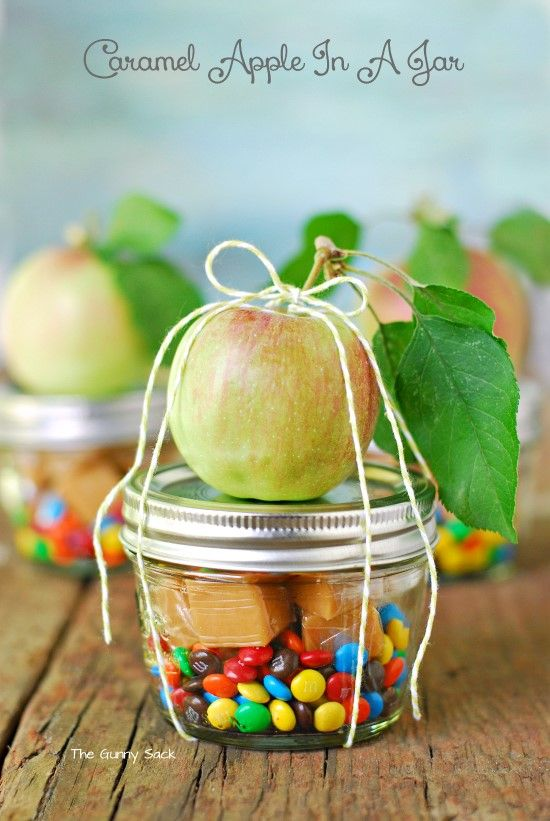 Caramels and Apple - DIY Gifts in a Jar