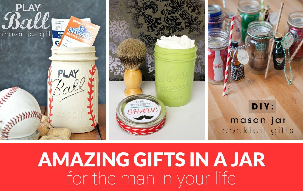 Gifts in a jar for men