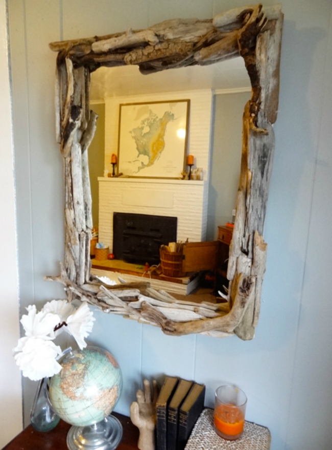 budget friendly driftwood mirror ideas