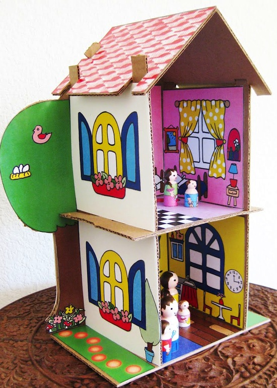 These Upcycled Diy Dollhouses Will Inspire Hours Of