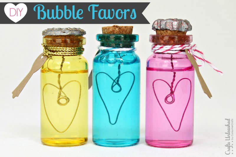 Wire and jar bubble gift favours