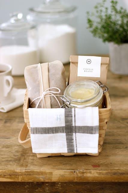 Banana bread and honey butter breakfast gift basket
