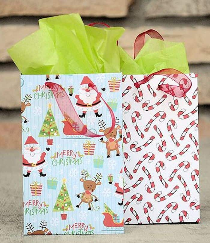 DIY Small wrapping paper gift bags