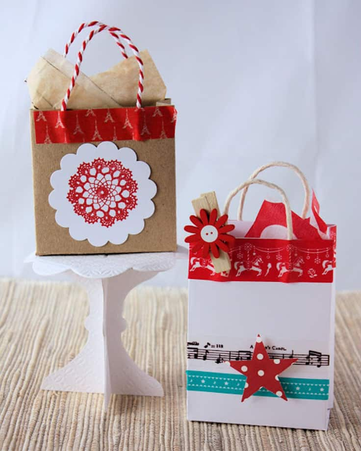 Upcycled paper gift bags