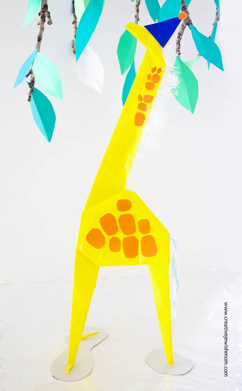 Giraffe Origami Chinese Way