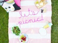 Giant embroidered picnic blanket 200x150 For the Sunnier Days: 15 Best DIY Picnic Blanket Tutorials