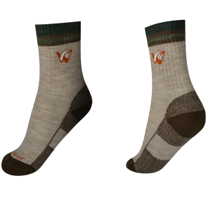 woolrior merino hiking socks -beige